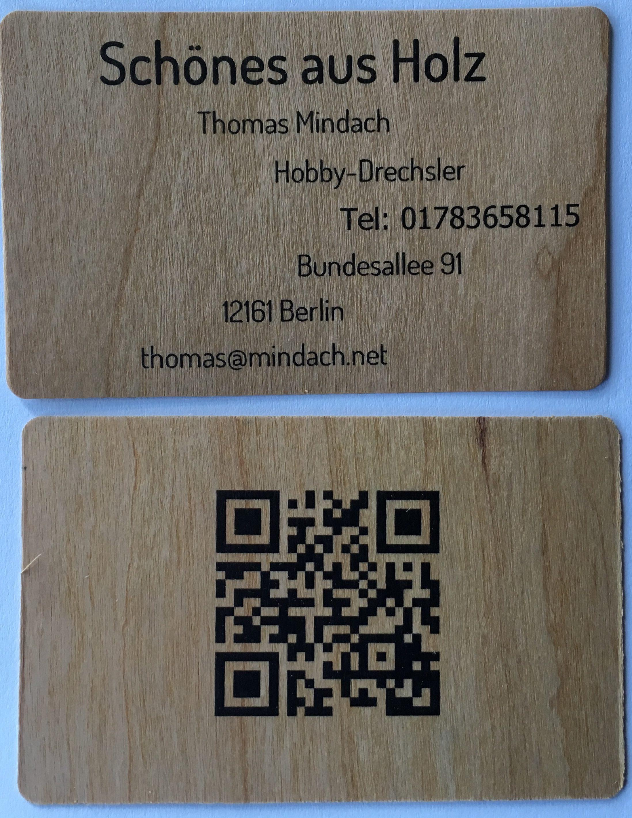 Mal Was Neues Die Visitenkarten Sind Da Drechseln Mit Holz